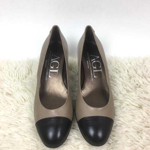 e5895171ad08 Attilio Giusti Leombruni Shoes - AGL leather cap toe comfort low pump heel  NEW